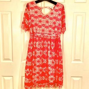 NWOT PINK LACE MATERNITY DRESS by MOTHERHOOD S-XL